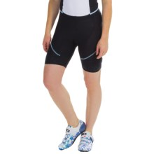 Castelli Evoluzione Bike Shorts (For Women) in Black/Pale Sky - Closeouts
