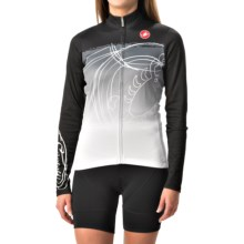 Castelli Fenomeno Cycling Jersey - Full Zip, Long Sleeve (For Women) in Black/White - Closeouts