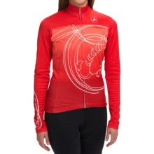 Castelli Fenomeno Cycling Jersey - Full Zip, Long Sleeve (For Women) in Red/Ruby Red - Closeouts