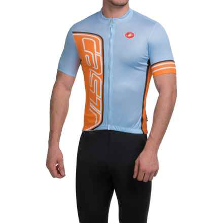 Castelli Formula Cycling Jersey - Full Zip, Short Sleeve (For Men) in Gulf Race - Closeouts