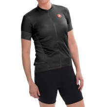 Castelli Fortuna Cycling Jersey - Zip Neck, Short Sleeve (For Women) in Black/Lime - Closeouts