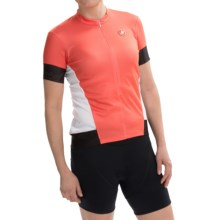 Castelli Fortuna Cycling Jersey - Zip Neck, Short Sleeve (For Women) in Coral/White - Closeouts