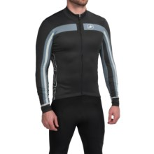 Castelli Free 3 Cycling Jersey - Full Zip, Long Sleeve (For Men) in Back/Turbulence - Closeouts