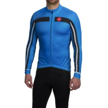 Castelli Free 3 Cycling Jersey - Full Zip, Long Sleeve (For Men) in Drive Blue/Black - Closeouts