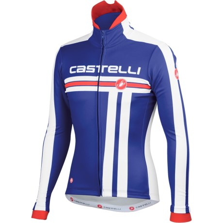 Castelli Free Cycling Jacket - Windstopper® (For Men) in Deep Blue/White