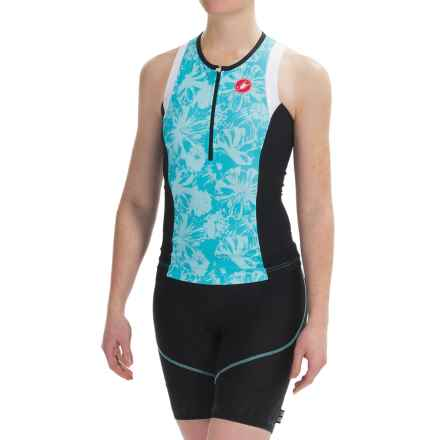 Castelli Free Tri Singlet - Zip Neck, Sleeveless (For Women) in Pastel Blue - Closeouts