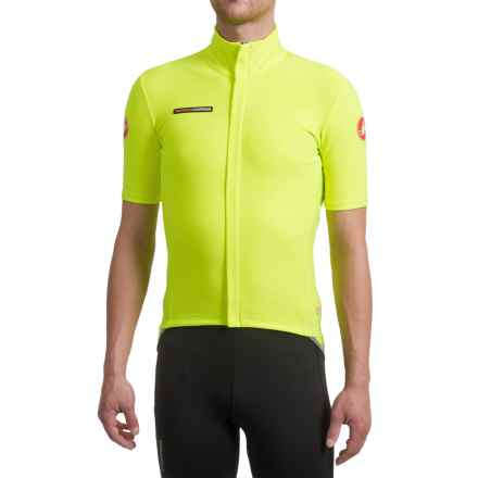 Castelli Gabba 2 Windstopper® Jersey Jacket - Short Sleeve (For Men) in Yellow Fluo - Closeouts