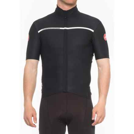 Castelli Gabba 3 Windstopper® Cycling Jersey - Short Sleeve (For Men) in Light Black - Closeouts