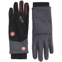 Castelli Gara Windstopper® Bike Gloves (For Men) in Anthracite/Red - Closeouts
