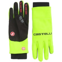 Castelli Gara Windstopper® Bike Gloves (For Men) in Yellow Fluo/Black - Closeouts