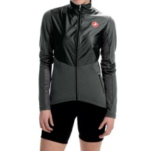 Castelli Illumina Cycling Jersey - Full Zip, Long Sleeve (For Women) in Black/ Anthracite - Closeouts