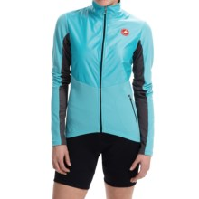 Castelli Illumina Cycling Jersey - Full Zip, Long Sleeve (For Women) in Pastel Blue/ Anthracite - Closeouts