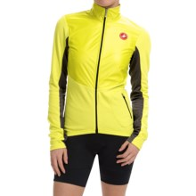 Castelli Illumina Cycling Jersey - Full Zip, Long Sleeve (For Women) in Sulphur/ Anthracite - Closeouts