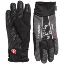 Castelli Leggenda Polartec® Bike Gloves (For Men) in Black/Anthracite - Closeouts