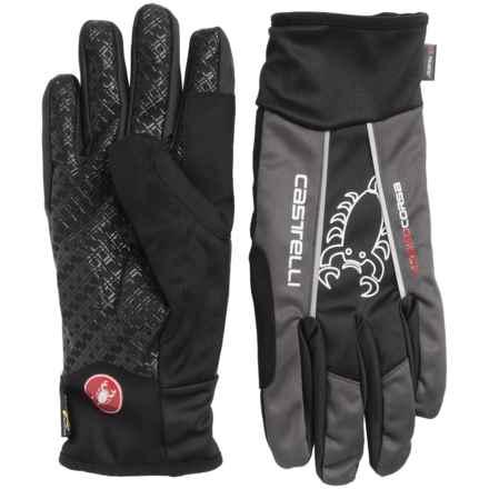 Castelli Leggenda Polartec® Bike Gloves (For Men) in Black/Anthracite - Closeouts