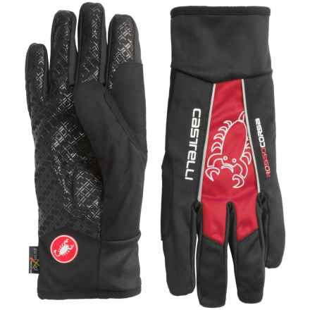 Castelli Leggenda Polartec® Bike Gloves (For Men) in Black/Red - Closeouts