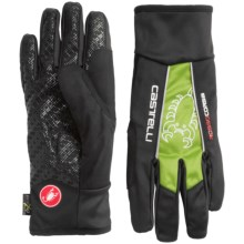 Castelli Leggenda Polartec® Bike Gloves (For Men) in Black/Sprint Green - Closeouts