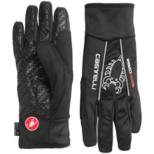 Castelli Leggenda Polartec® Bike Gloves (For Men) in Black - Closeouts