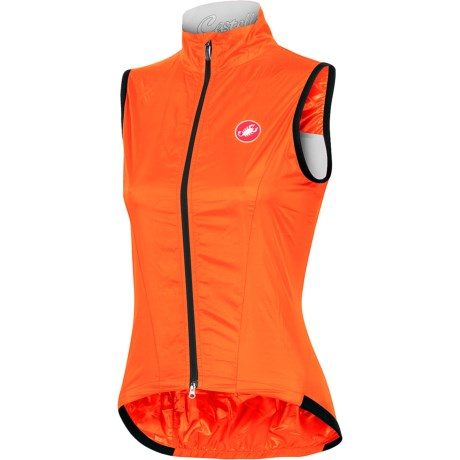 Castelli Leggera Vest (For Women) in Orange Fluo