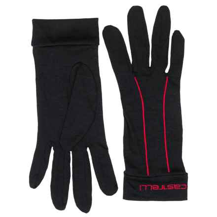 Castelli Liner Cycling Gloves - Full Finger (For Men) in Black/Red - Closeouts