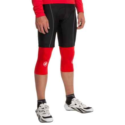 Castelli Lycra® Cycling Knee Warmers (For Men) in Red - Closeouts