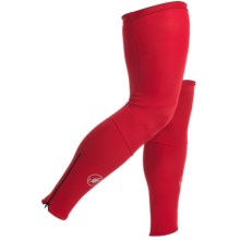 Castelli Lycra Cycling Leg Warmers (For Men) in Red - Closeouts