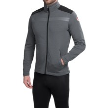 Castelli Meccanico Cycling Sweater Jacket - Full Zip (For Men) in Turbulence/Vintage Black - Closeouts