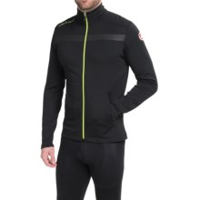 Castelli Meccanico Cycling Sweater Jacket - Full Zip (For Men) in Vintage Black/Sprint Green - Closeouts