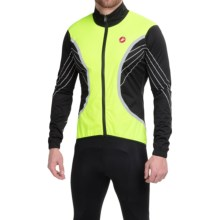 Castelli Misto Cycling Jacket - Waterproof, Full Zip (For Men) in Yellow Fluo/Black - Closeouts