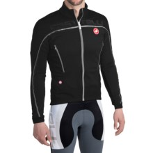 Castelli Mortirolo 3 Cycling Jacket - Windstopper®, Full Zip (For Men) in Black - Closeouts