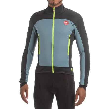 Castelli Mortirolo 4 Windstopper® Cycling Jacket - Windproof (For Men) in Mirage/Black - Closeouts