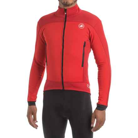 Castelli Mortirolo 4 Windstopper® Cycling Jacket - Windproof (For Men) in Red/Ruby Red - Closeouts