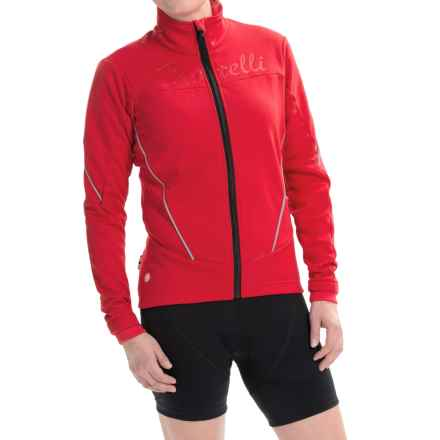 Castelli Mortirolo Cycling Jacket - Windstopper®, Full Zip (For Women) in Red/Reflex - Closeouts
