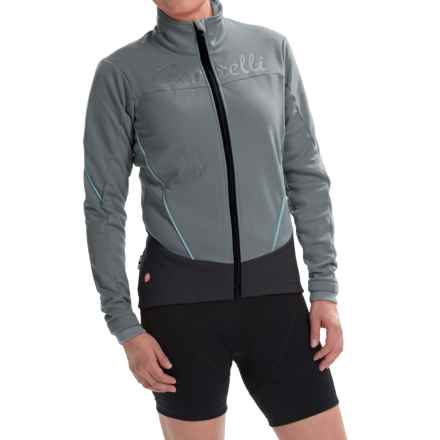 Castelli Mortirolo Cycling Jacket - Windstopper®, Full Zip (For Women) in Turbulence/Pastel Blue - Closeouts