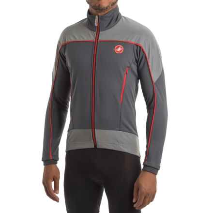 Castelli Mortirolo Reflex Windstopper® Cycling Jacket (For Men) in Anthracite/Red/Reflex - Closeouts