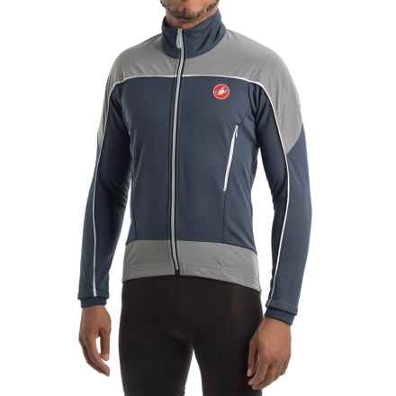 Castelli Mortirolo Reflex Windstopper® Cycling Jacket (For Men) in Blue Night/White/Reflex - Closeouts