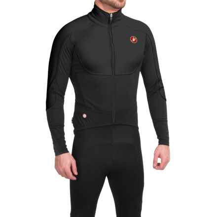 Castelli Passo Giau Cycling Jacket - Windstopper®, Full Zip (For Men) in Black/Yellow Fluo - Closeouts
