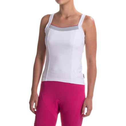 Castelli Perla Bavette Cycling Jersey - Sleeveless (For Women) in White - Closeouts