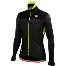 Castelli Poggio Cycling Jacket - Windstopper® (For Men) in Black/Anthracite/Yellow Fluo - Closeouts