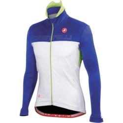 Castelli Poggio Cycling Jacket - Windstopper® (For Men) in White/Black/Red
