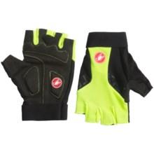 Castelli Presa Bike Gloves - Fingerless (For Men) in Yelllow Fluo/Black - Closeouts