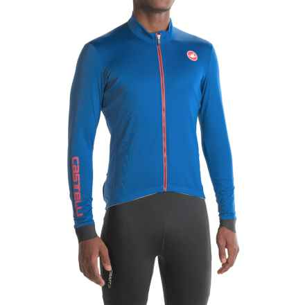 Castelli Puro 2 Cycling Jersey - Full Zip, Long Sleeve (For Men) in Surf Blue - Closeouts