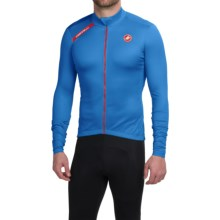 Castelli Puro Cycling Jersey - Full Zip, Long Sleeve (For Men) in Drive Blue - Closeouts
