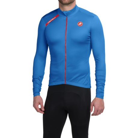 Castelli Puro Cycling Jersey Full Zip, Long Sleeve (For Men)