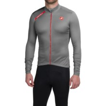 Castelli Puro Cycling Jersey - Full Zip, Long Sleeve (For Men) in Grey - Closeouts