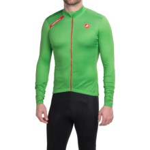 Castelli Puro Cycling Jersey - Full Zip, Long Sleeve (For Men) in Kelly Green - Closeouts