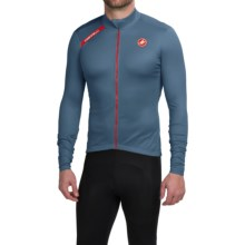 Castelli Puro Cycling Jersey - Full Zip, Long Sleeve (For Men) in Moonlight Blue - Closeouts