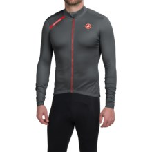 Castelli Puro Cycling Jersey - Full Zip, Long Sleeve (For Men) in Turbulence - Closeouts