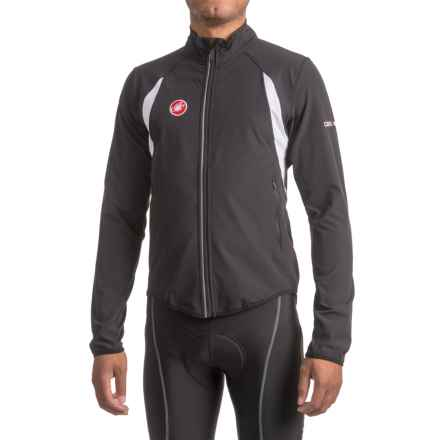 Castelli Race Day Warm-Up Cycling Jacket - Full Zip (For Men) in Black - Closeouts