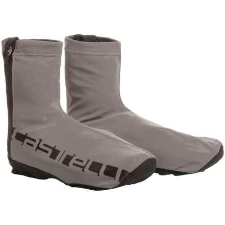 Castelli Reflex Cycling Shoe Covers - Waterproof (For Men) in Reflective Silver - Closeouts